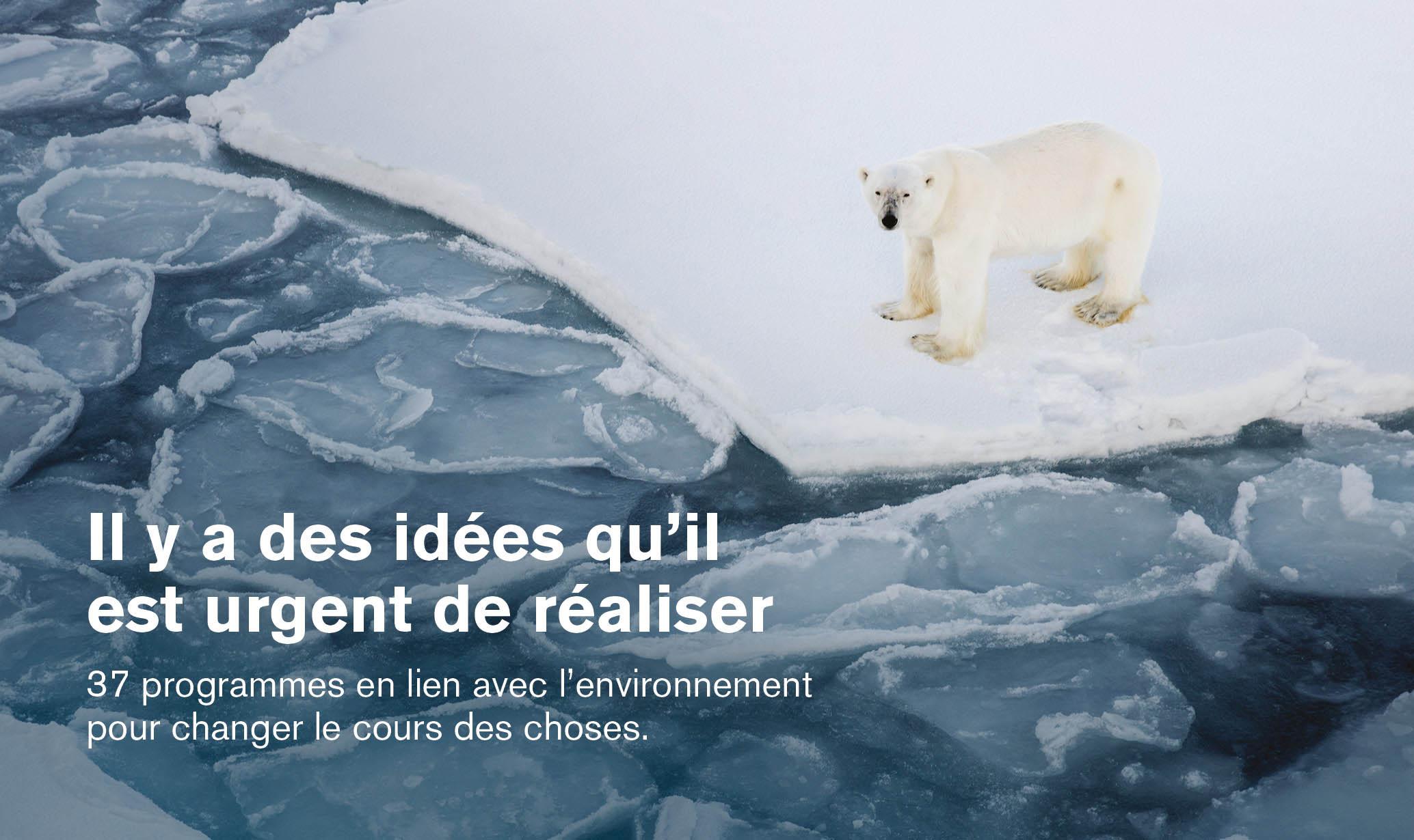 Il y a des idées qu'il est urgent de réaliser | 37 programmes en lien avec l'environnement pour changer le cours des choses.