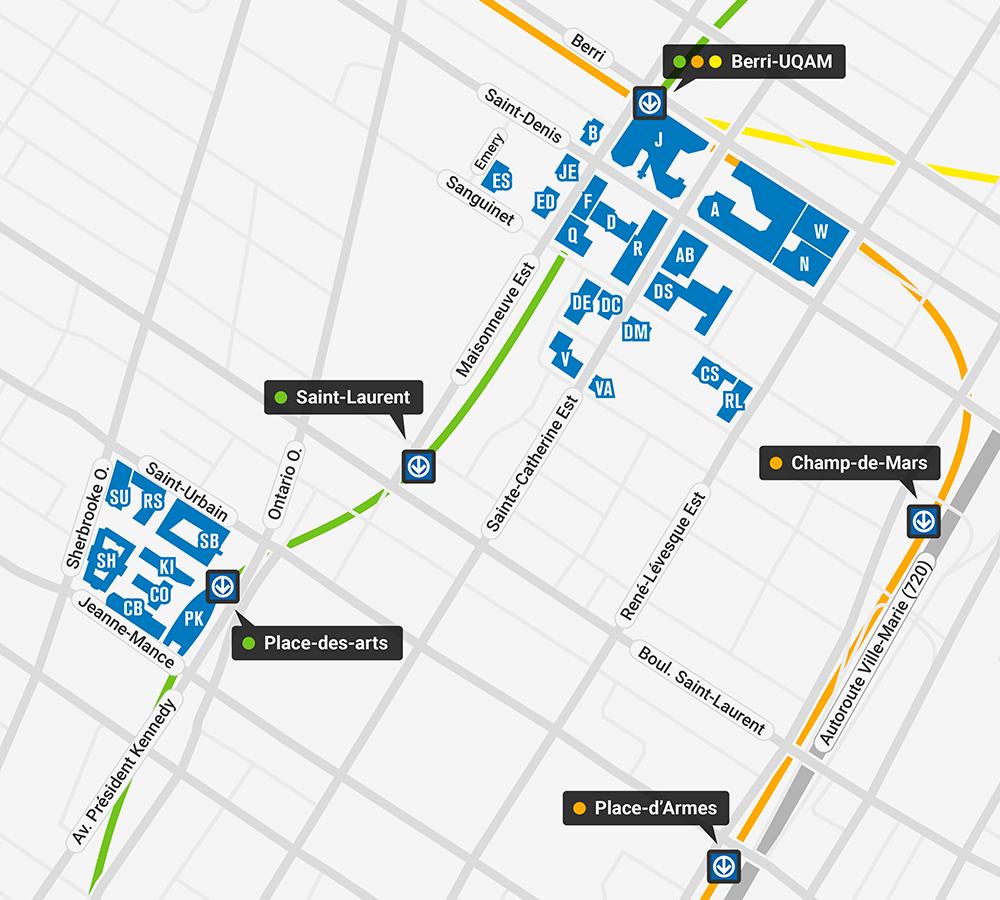 Carte du campus